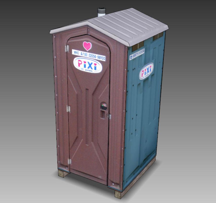 Mobilna toaleta royalty-free 3d model - Preview no. 19