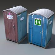 Mobile Toilette 3d model