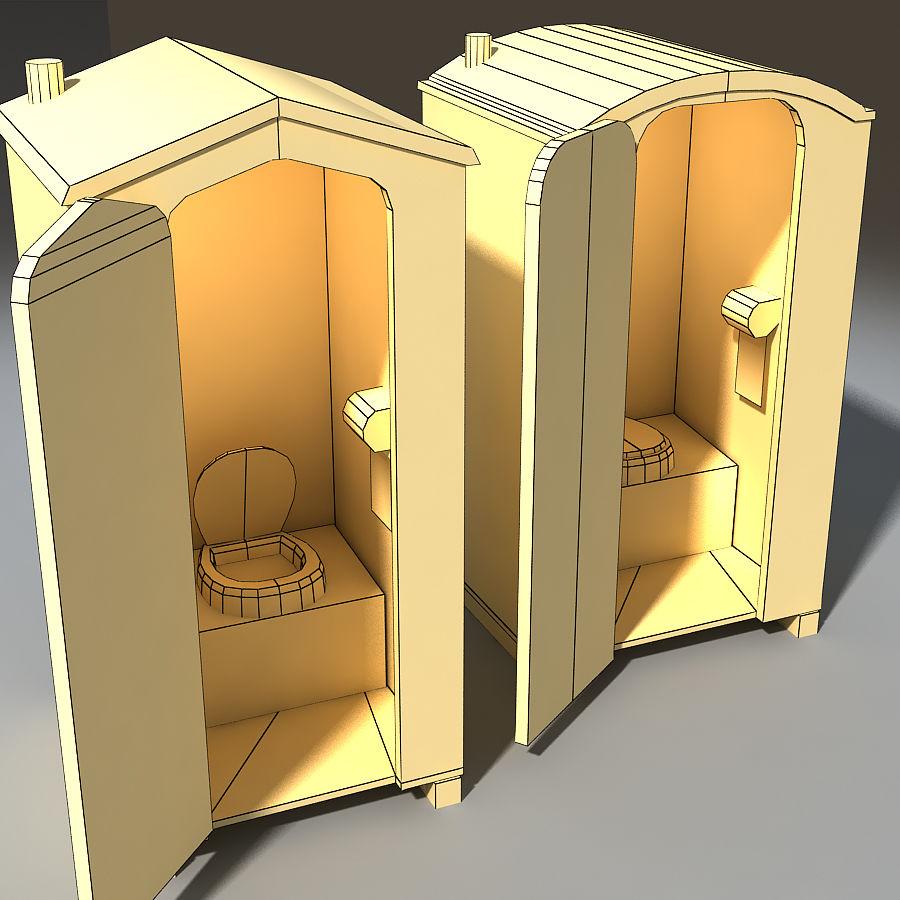 Mobilna toaleta royalty-free 3d model - Preview no. 5