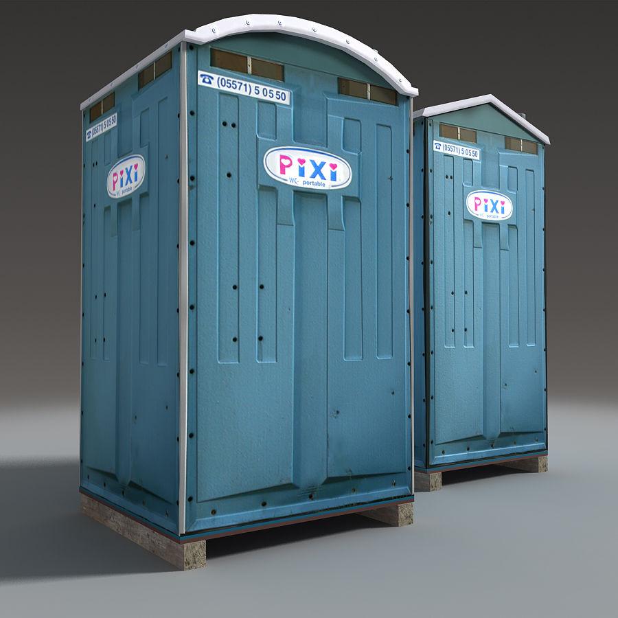 Mobilna toaleta royalty-free 3d model - Preview no. 12
