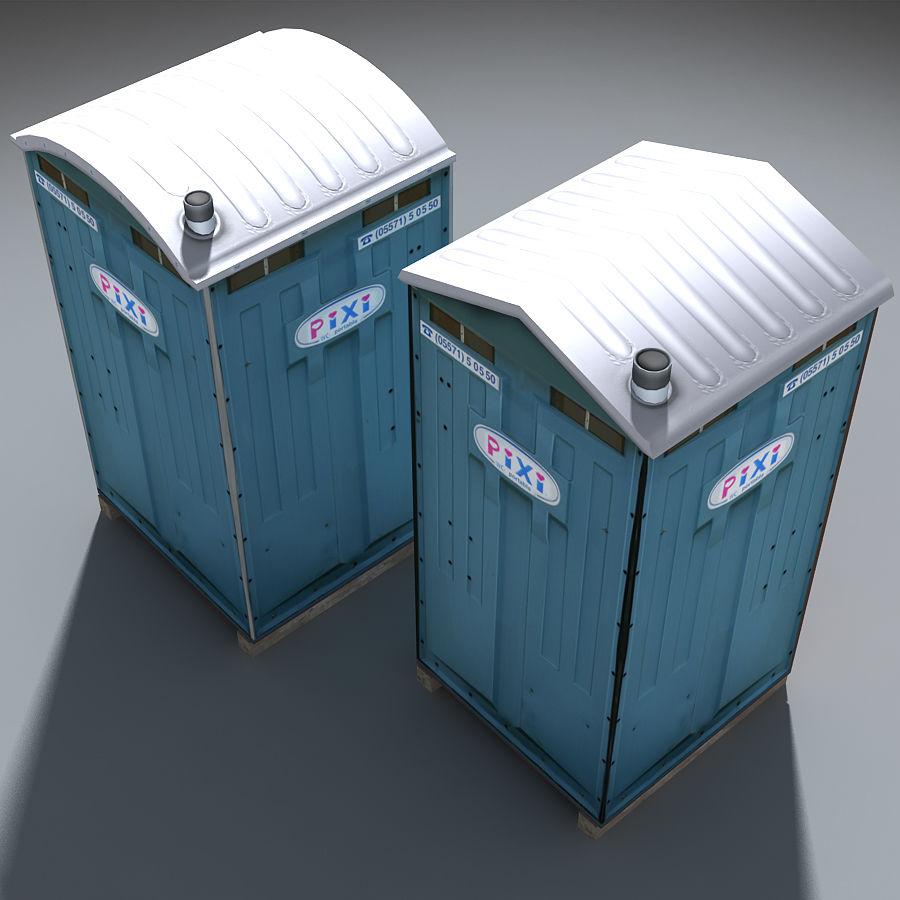 Mobilna toaleta royalty-free 3d model - Preview no. 9