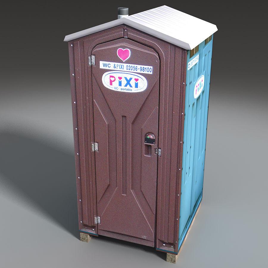 Mobilna toaleta royalty-free 3d model - Preview no. 16