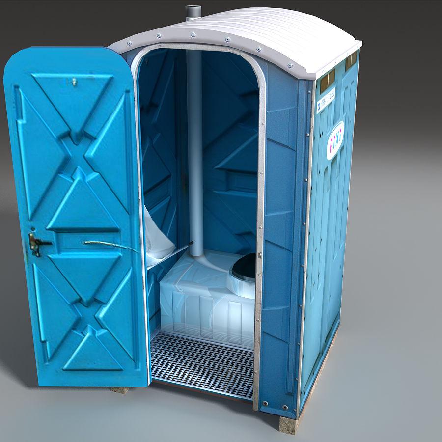 Mobilna toaleta royalty-free 3d model - Preview no. 17