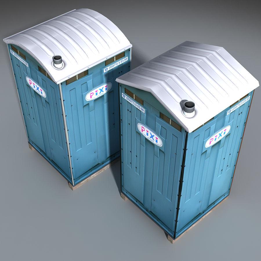 Mobilna toaleta royalty-free 3d model - Preview no. 10