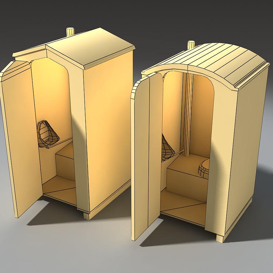 Mobilna toaleta royalty-free 3d model - Preview no. 3