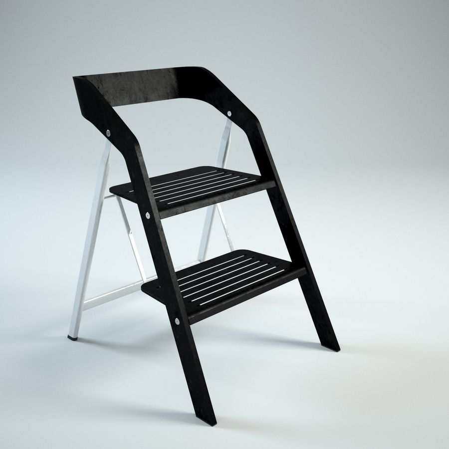 Miraculous Vintage Usit Stepladder Chair 2 Step Version 3D Model 39 Caraccident5 Cool Chair Designs And Ideas Caraccident5Info
