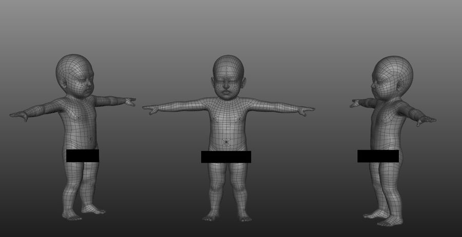 Modèle d'anatomie infantile royalty-free 3d model - Preview no. 5