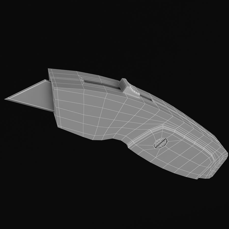 Standard Utility Knives royalty-free 3d model - Preview no. 9