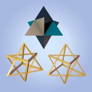 Merkaba-symbolen 3d model