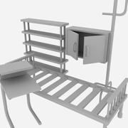 Sprzęt szpitalny 3d model
