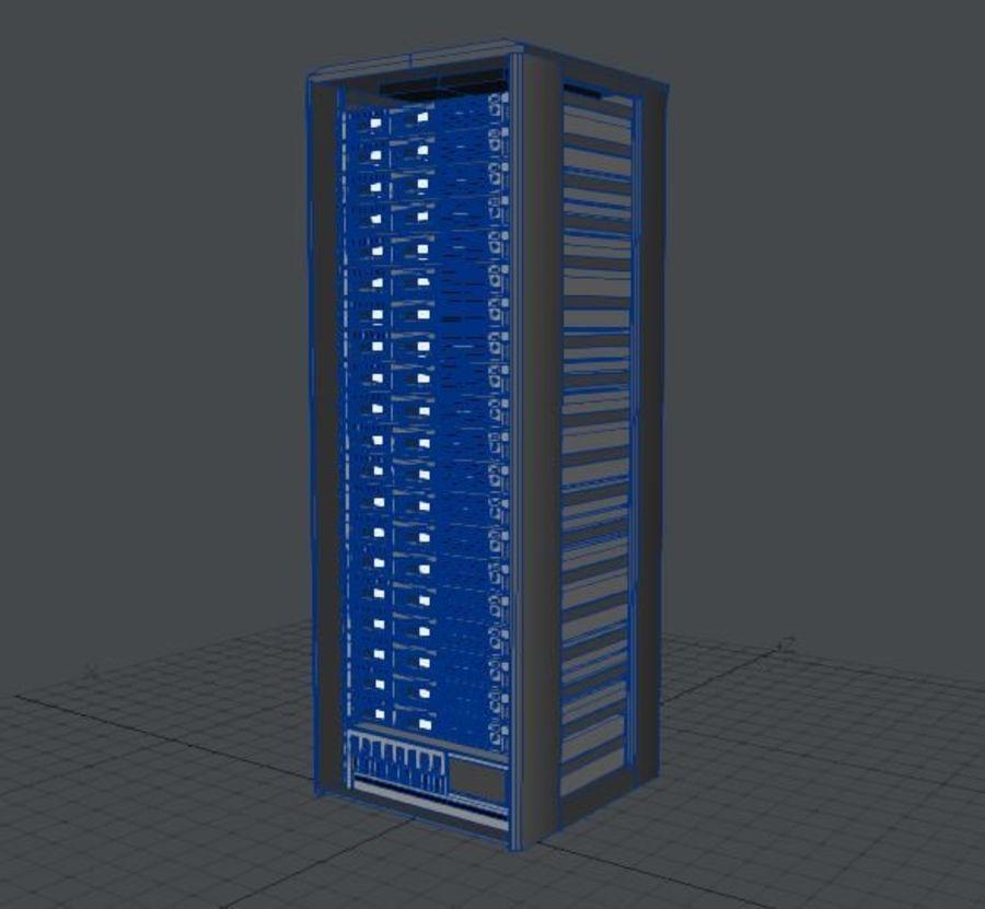 Server Rack - Plain Storage royalty-free 3d model - Preview no. 5