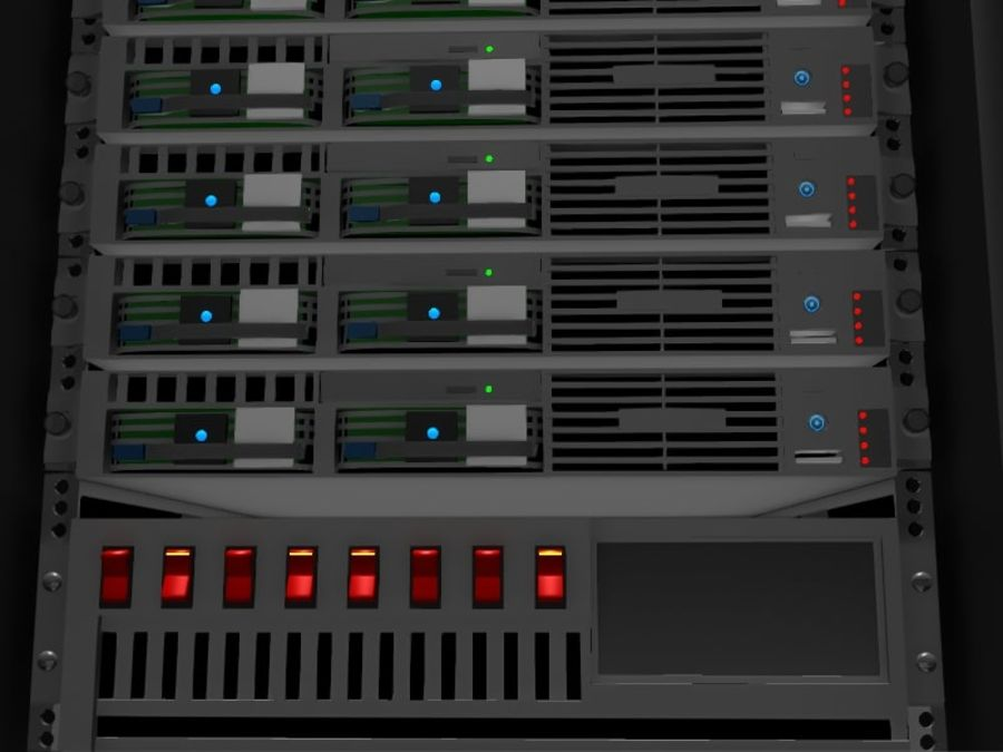 Server Rack - Plain Storage royalty-free 3d model - Preview no. 3