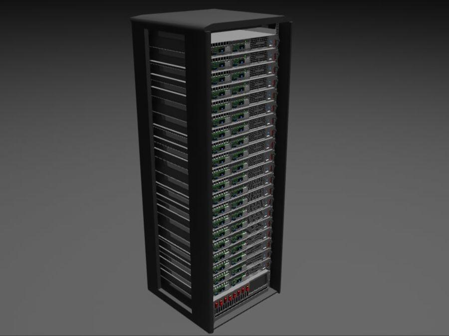 Server Rack - Plain Storage royalty-free 3d model - Preview no. 1