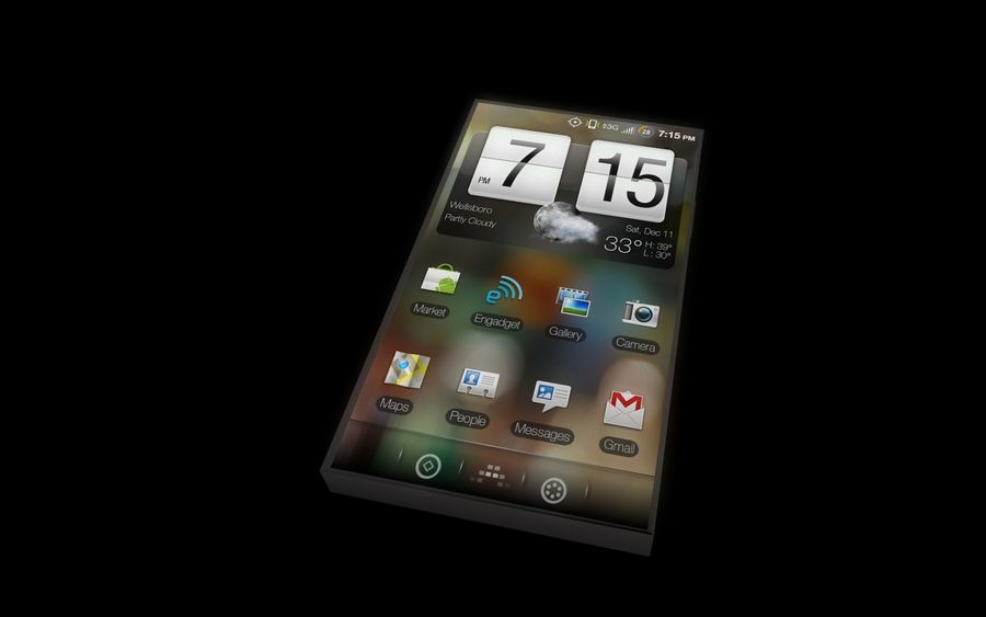 Android Smart Phone royalty-free 3d model - Preview no. 8