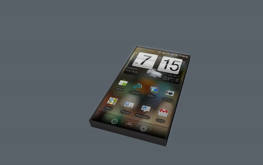 Android Smart Phone royalty-free 3d model - Preview no. 2
