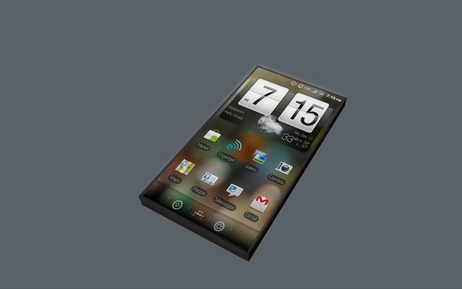 Android Smart Phone royalty-free 3d model - Preview no. 7