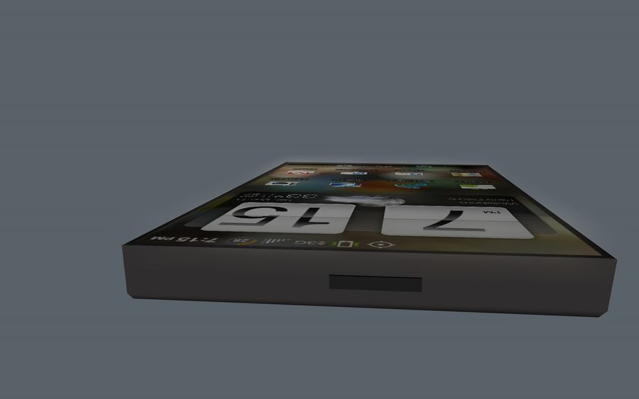 Android Smart Phone royalty-free 3d model - Preview no. 5