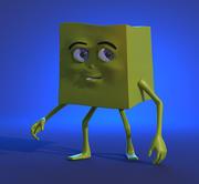 Glitch toon character(1) 3d model