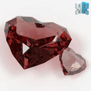 Heart Shaped Gemstone 01 3d model