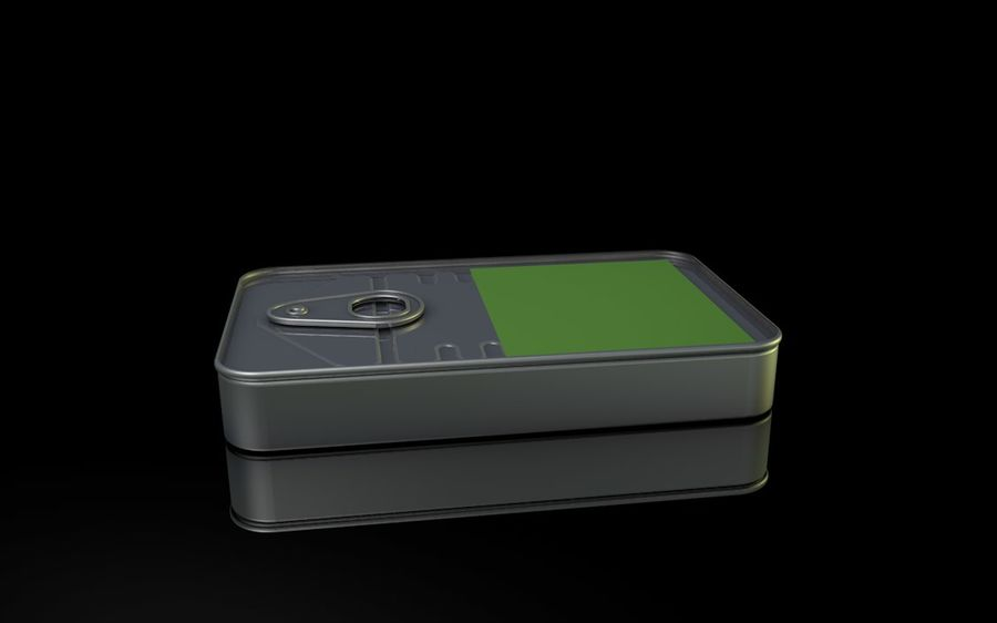 Can / Tin / SURVIVAL KIT royalty-free 3d model - Preview no. 1