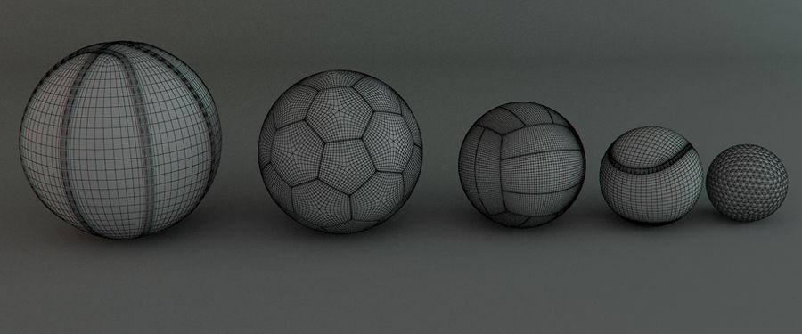 Collezione Sport Balls royalty-free 3d model - Preview no. 5