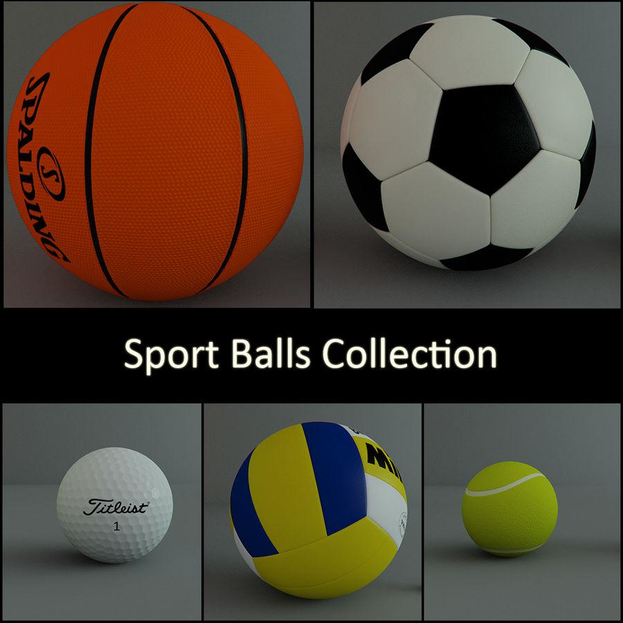 Collezione Sport Balls royalty-free 3d model - Preview no. 1