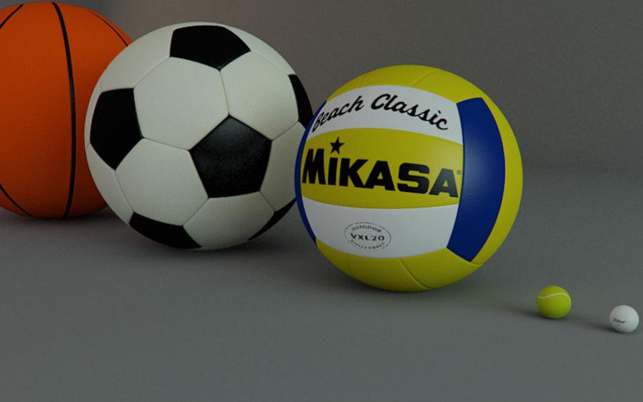 Collezione Sport Balls royalty-free 3d model - Preview no. 3