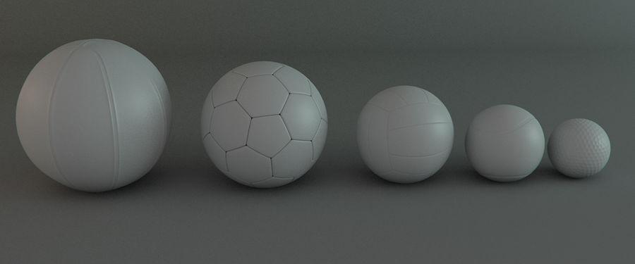 Collezione Sport Balls royalty-free 3d model - Preview no. 4