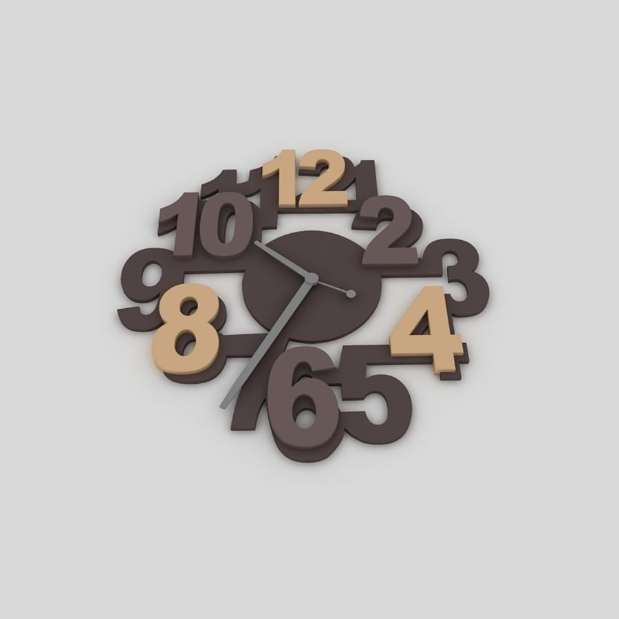wall clock royalty-free 3d model - Preview no. 2