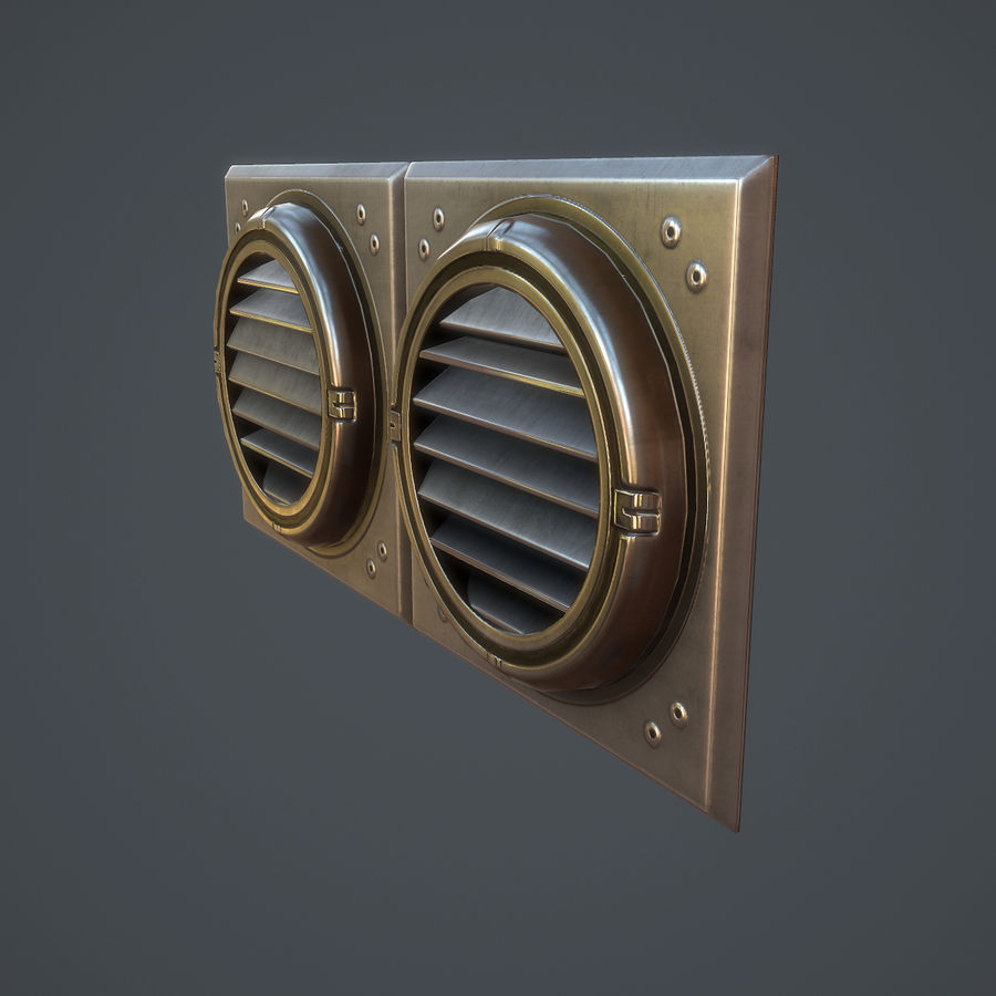 Egzoz Havalandırması 02 royalty-free 3d model - Preview no. 7