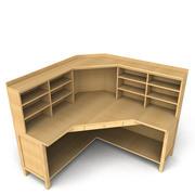 Mesa de oficina de esquina modelo 3d