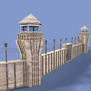 Prison Wall 3d model