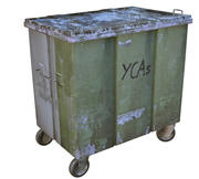Street container trash bin 3d model