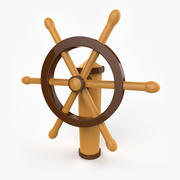 Cartoon Ship Wheel 3d model