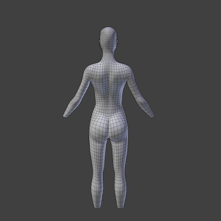 여성의 몸 royalty-free 3d model - Preview no. 7