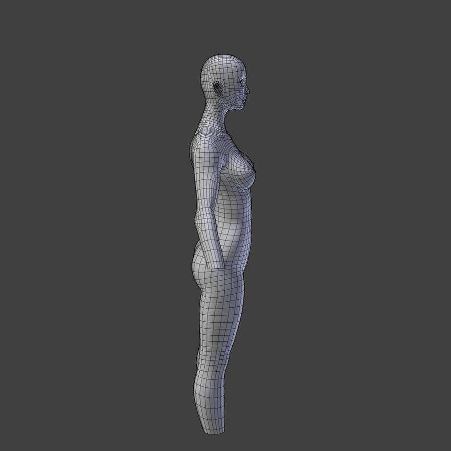 여성의 몸 royalty-free 3d model - Preview no. 8