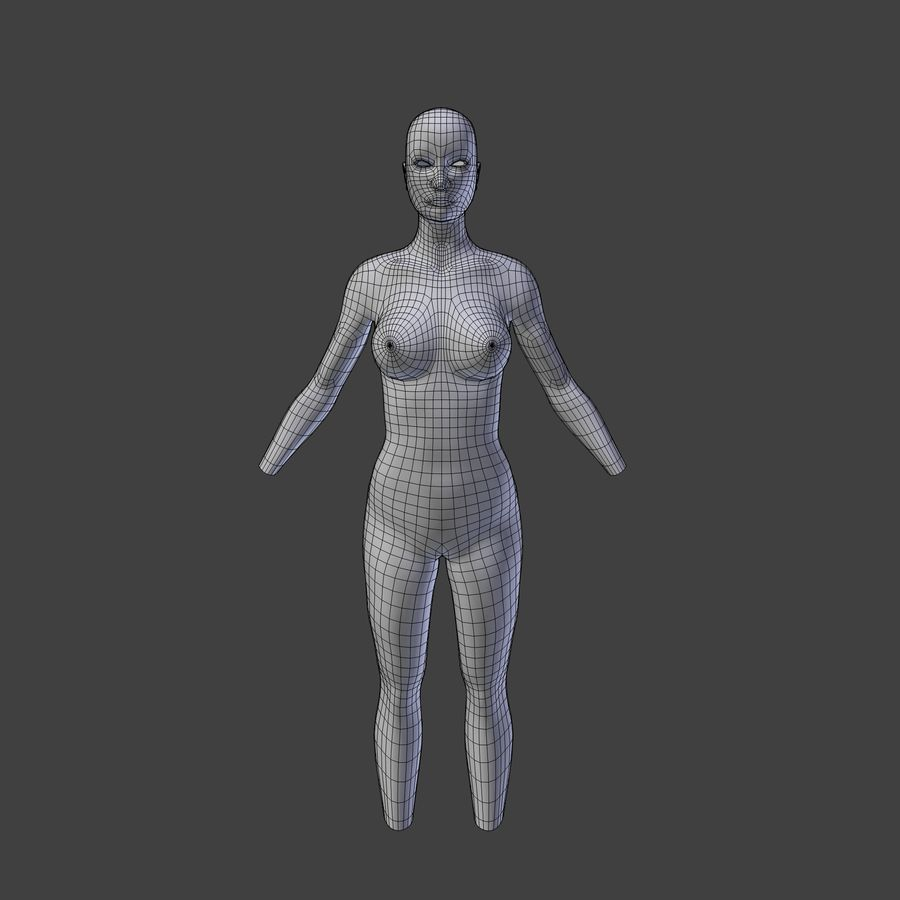 Corpo femminile royalty-free 3d model - Preview no. 5