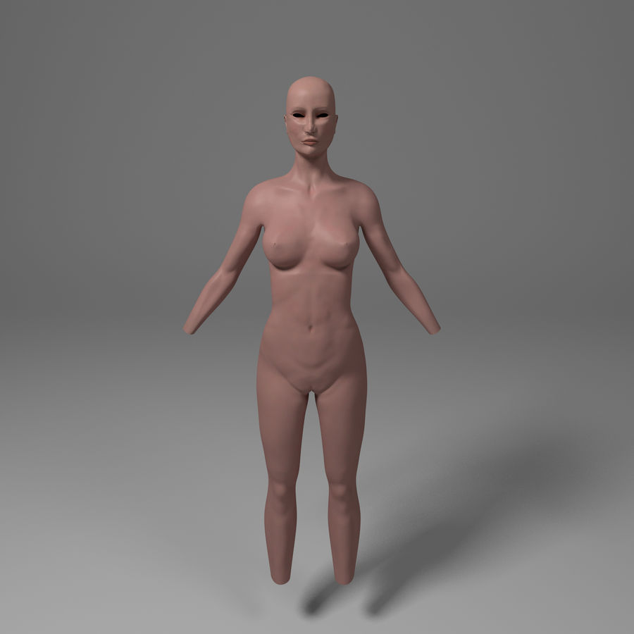 Corpo femminile royalty-free 3d model - Preview no. 1