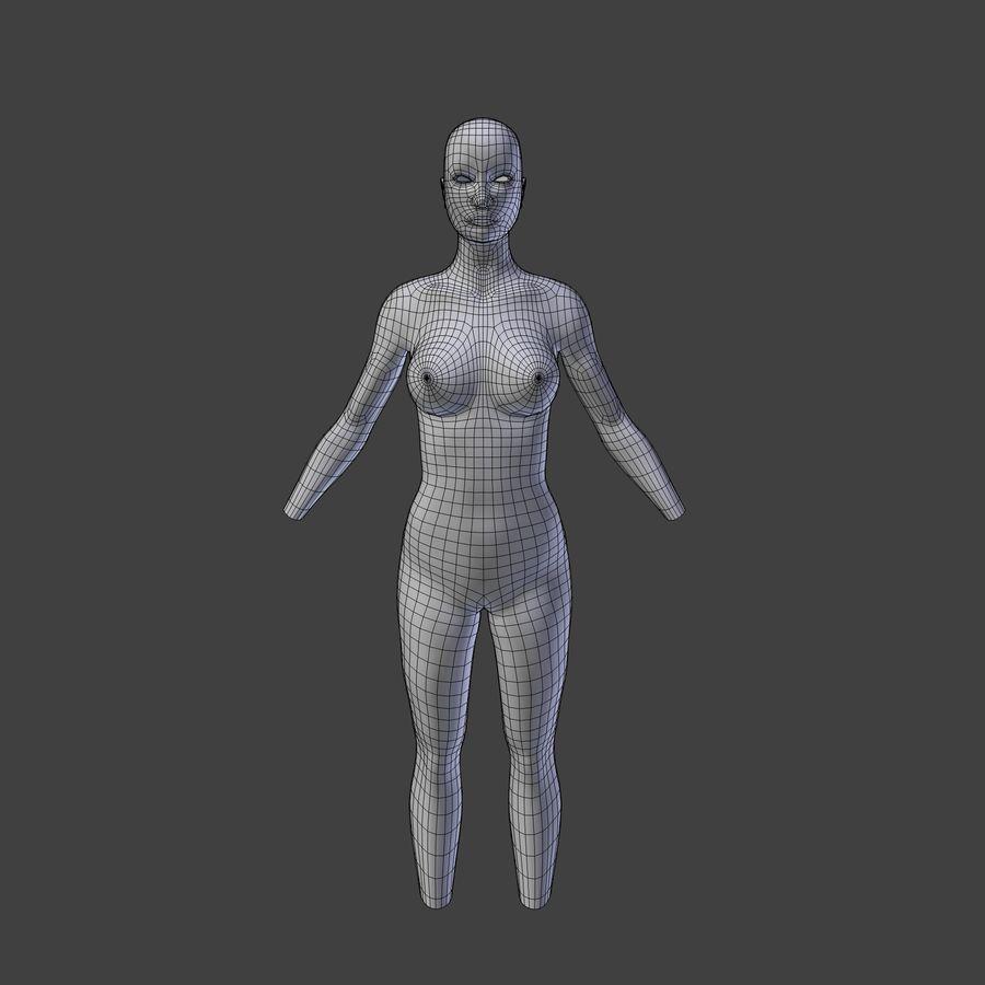 여성의 몸 royalty-free 3d model - Preview no. 5