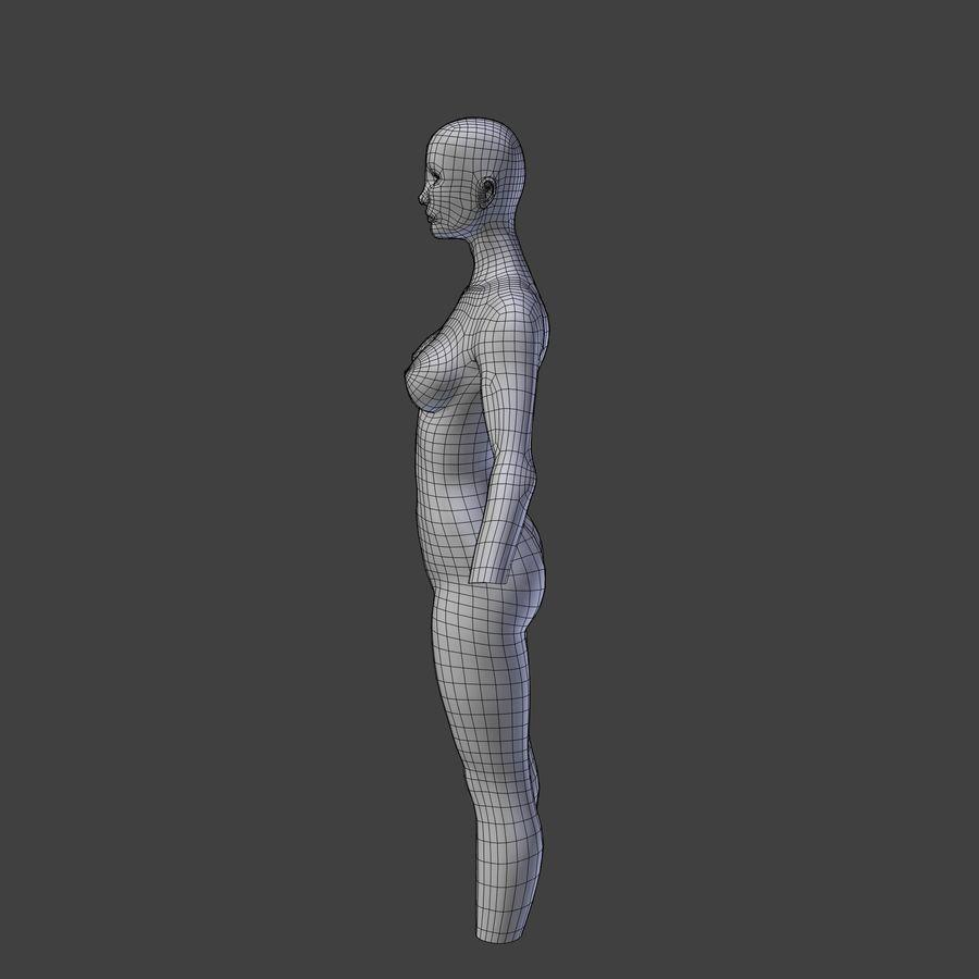여성의 몸 royalty-free 3d model - Preview no. 6