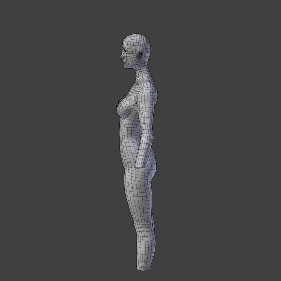 Corpo femminile royalty-free 3d model - Preview no. 6
