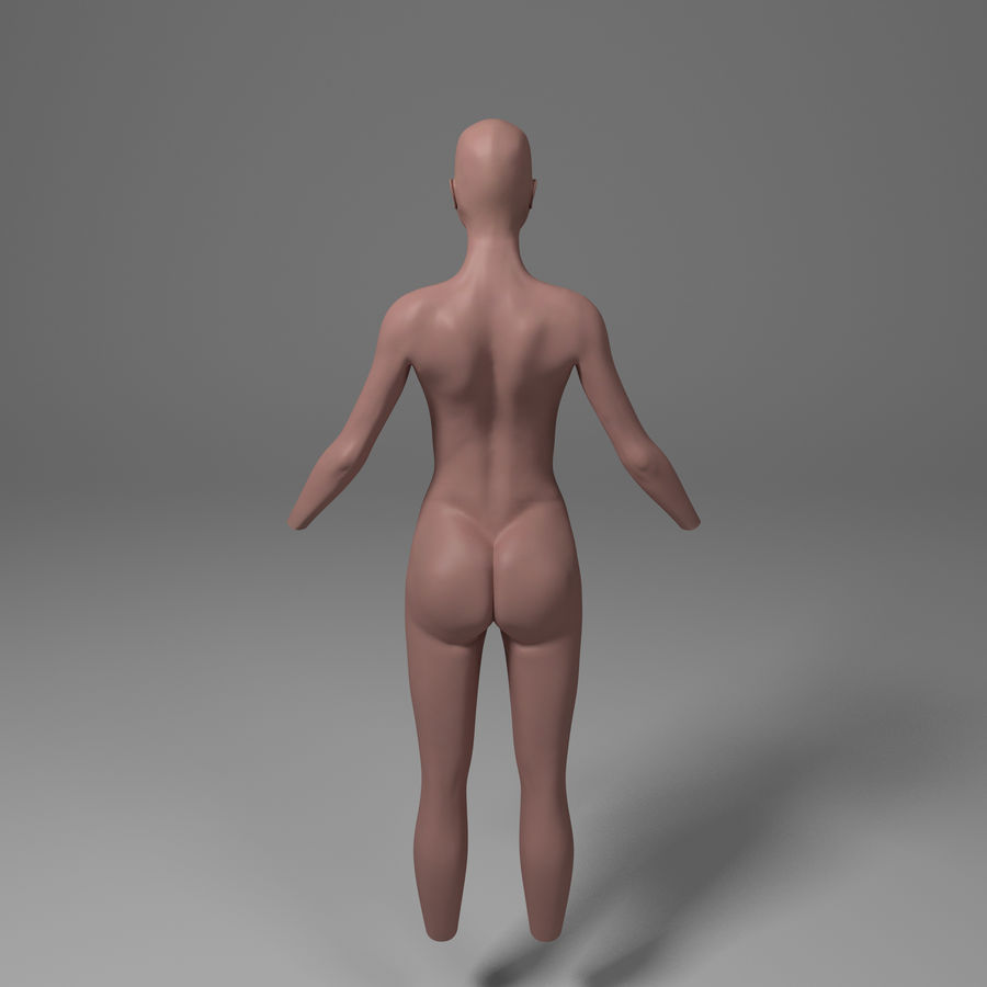 Corpo femminile royalty-free 3d model - Preview no. 3