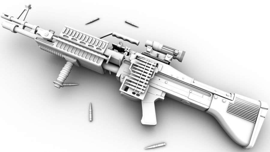 geweer royalty-free 3d model - Preview no. 4