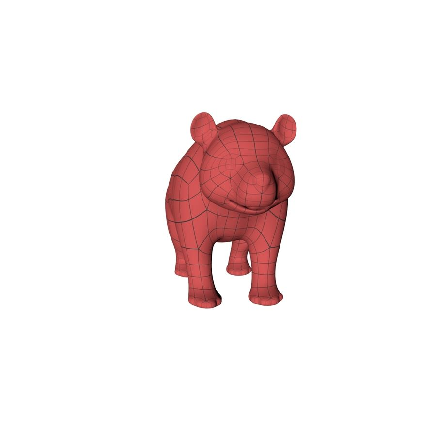 熊猫底网 royalty-free 3d model - Preview no. 4