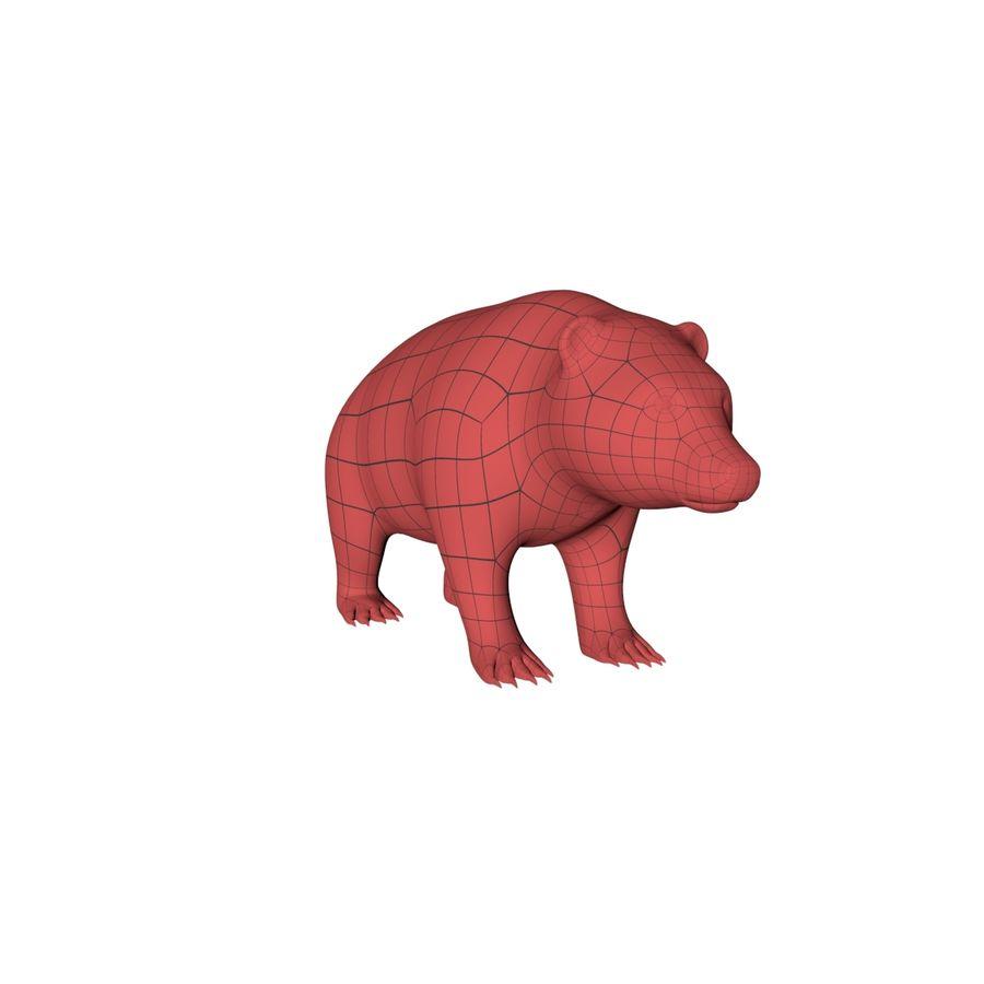 Siatka podstawy niedźwiedzia grizzly royalty-free 3d model - Preview no. 3