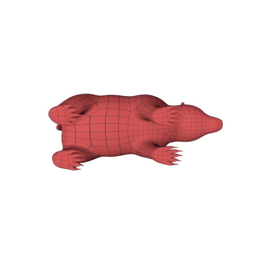 Siatka podstawy niedźwiedzia grizzly royalty-free 3d model - Preview no. 6
