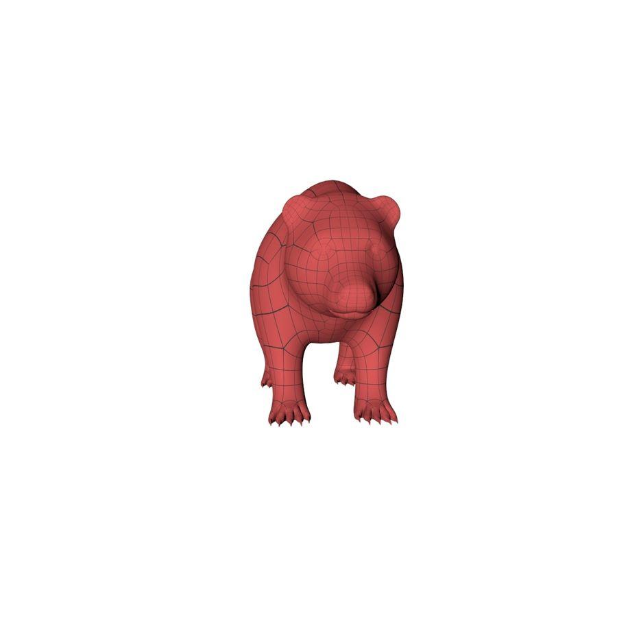 Siatka podstawy niedźwiedzia grizzly royalty-free 3d model - Preview no. 4