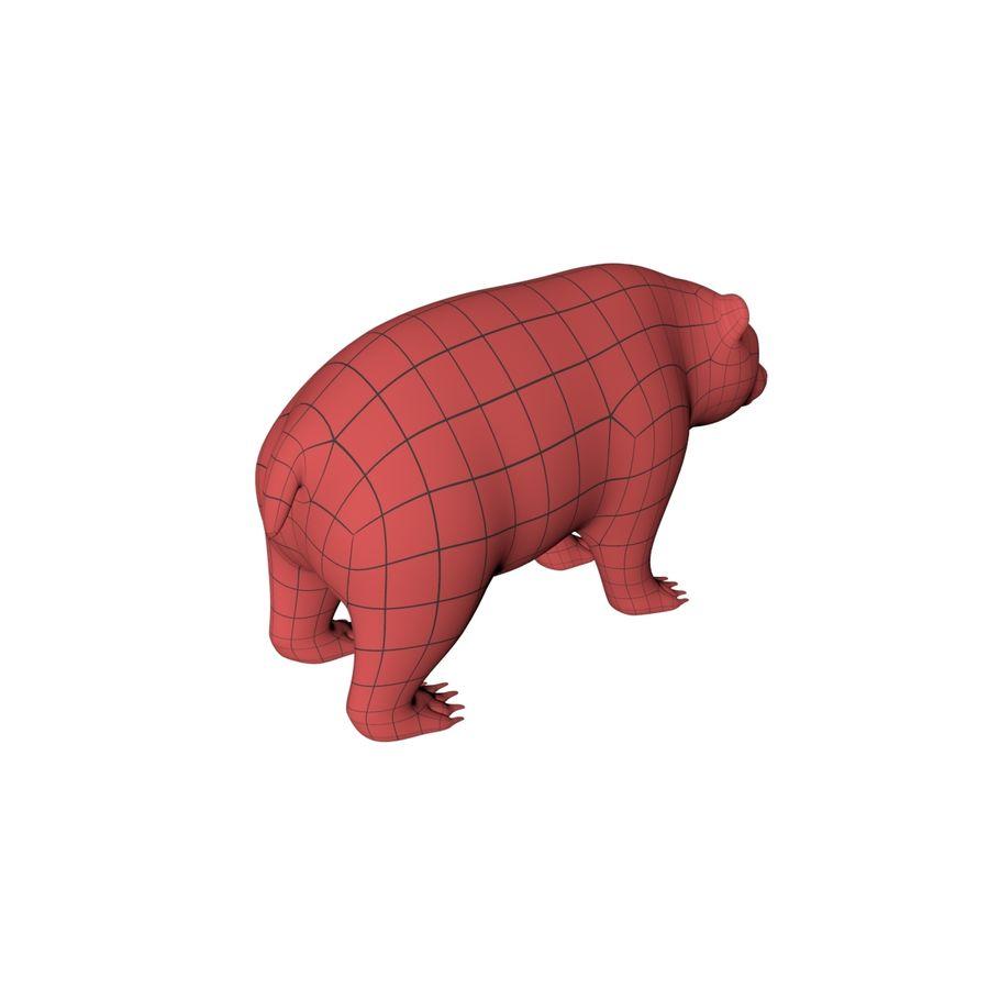 Siatka podstawy niedźwiedzia grizzly royalty-free 3d model - Preview no. 7