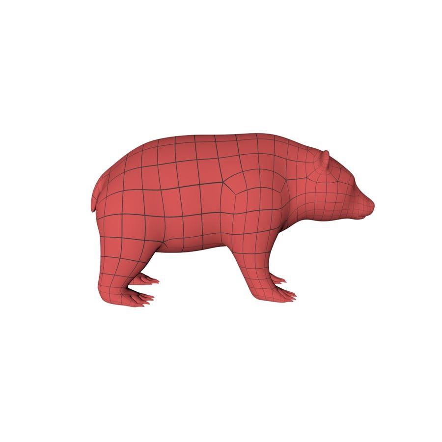 Siatka podstawy niedźwiedzia grizzly royalty-free 3d model - Preview no. 1