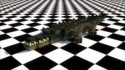Crocodile Rig MineCraft 3d model